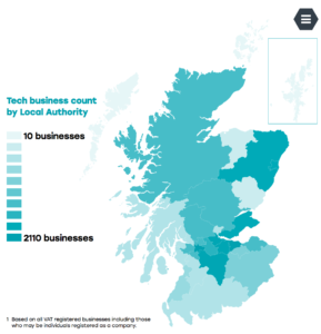 Scotland's digital technologies locations and clusters